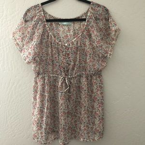 Maurice's Floral Short Sleeve Blouse